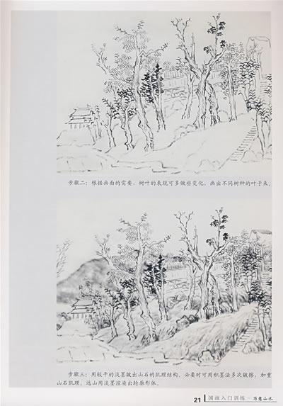 工具与材料  山石的皴法  树木的画法  云水的画法  点景的画法  山水