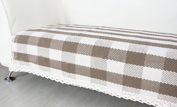 棉地垫 门垫 沙发垫花边人字70 180