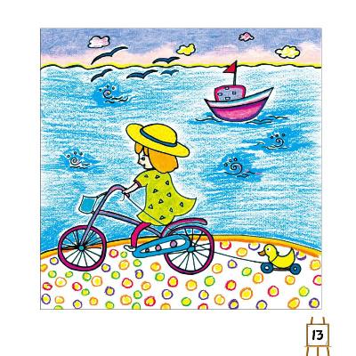design 风景油画棒画图片大全_风景520  庆六一儿童画一等奖风景科幻