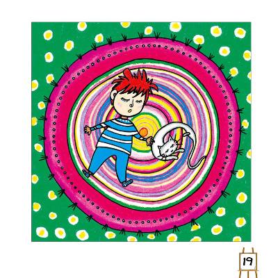 菠萝儿童画,菠萝绘画步骤-油画棒作品-儿童画网