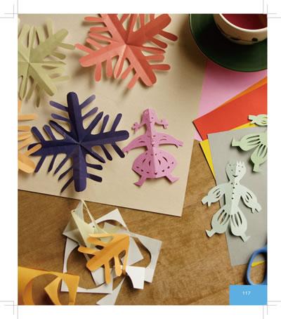 小鸭子复杂剪纸图案