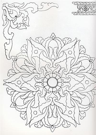 儿童植物装饰画植物变形装饰画黑白动植物装饰画