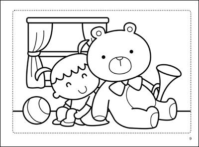 小猪吃西瓜简笔画